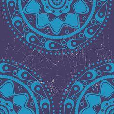 Grunge blue ornament 2