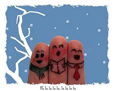 Finger faces for Christmas