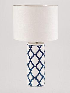 Lámpara ornamental de pie cerámico