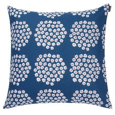 """The name of this pattern means """"bouquet"""" in Finnish. Marimekko Puketti Blue/White Throw Pillow - $48"""