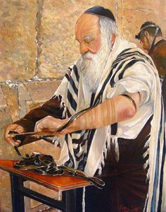 """Alex Levin painting ~ Rosh Hashanah is the Jewish New Year and literally means """"head of the year."""""""