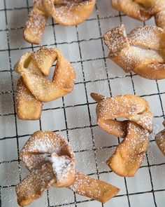 """Fattigman's Knuter - Norwegian """"Poor Man's Knots"""" Cookies - we made these at Christmas time. Just Desserts, Dessert Recipes, Danish Cookies, Finnish Recipes, Norwegian Christmas, Sweet Paul, Norwegian Food, Christmas Baking, Holiday Baking"""