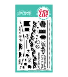 """Avery Elle Clear Stamp Set 4""""X6""""-Bunting"""
