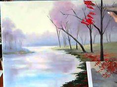Рисуем осенний пейзаж. Мастер класс по живописи