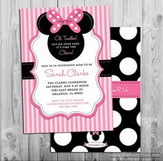 #BabyShowerInvitation Minnie Mouse Baby Shower Invitation | Printable Baby Shower Invite | Pink Black | Girl Baby Shower | DIY Decorations Available in our Shop baby shower invitation girl baby shower girl shower invites printable baby shower invites baby girl shower minnie baby shower pink baby shower minnie mouse minnie mouse shower minnie theme ideas invite for a girl 15.00 USD thepartystork
