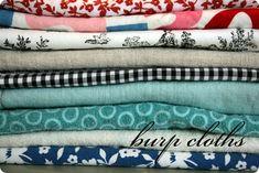 DIY burp cloths