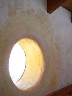 Beautiful straw bale house - interior window of home