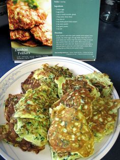 Escape from Obesity: Reviews: Medifast Lean & Green Meal Cookbook Review - Stuffed Zucchini Fritters