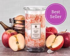 Orchard Apple Candle Reminds you of picking fresh apples in the orchard under the hot summer sun. Candle Wax, Soy Candles, Scented Candles, Classic Candles, Aroma Beads, Tart Warmer, Jewelry Candles, Wax Tarts, Luxury Candles