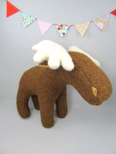 Wool Moose by violastudio on Etsy, $59.00