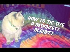 How to Tie Dye a Blanket/Bed Sheet - YouTube
