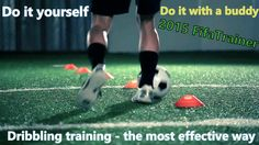 Dribbling training soccer and football: Fast feet, quick touches and gre...
