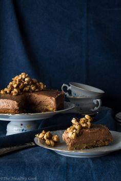Healthier Nutella Cheesecake – Cheesecake με Nutella - The Healthy Cook Nutella Cheesecake, Muffin, Cooking, Breakfast, Healthy, Sweet, Desserts, Food, Kitchen