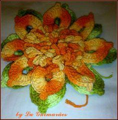 Artesanato com amor...by Lu Guimarães: Flores em crochê