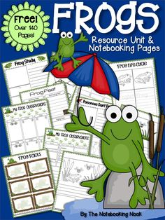 Do you have frog-loving kids? Below you'll find lots of links, videos and activities that will guide you and your children on a fun learning adventure about frog… Early Learning, Fun Learning, Frogs Preschool, Preschool Ideas, Frog Activities, Educational Activities, Preschool Activities, Lifecycle Of A Frog, Frog Theme
