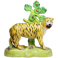 xx..tracy porter..poetic wanderlust..-Antique Staffordshire pottery figure of a tiger