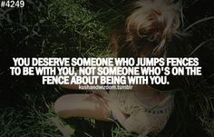 never be on the fence