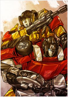 Sunstreaker and Sideswipe -- Just switch Sunny's optics to blue. :)