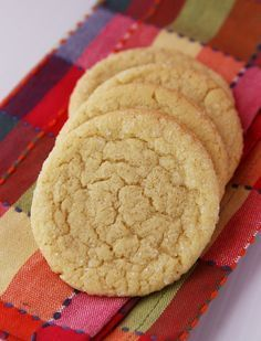 Sugar Cookies Recipe   No Roll Sugar Cookies   Savory Sweet Life - Easy Recipes from an Everyday Home Cook. I <3 these.  They taste like the refrigerated ones from the grocery store without all the crap. I love the chewiness!