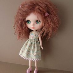 Pale Green Summer Dress for Blythe by myfairdolly on Etsy, $12.00