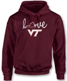 Love With State Outline - Virginia Tech Hokies
