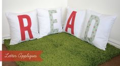 Reading Corner Series - Letter Appliques