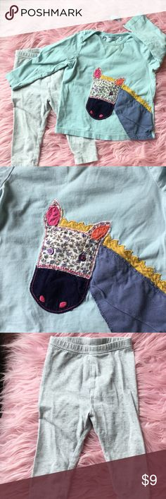 Mini Boden girls shirt w/free pants & bow Blue Mini Boden girls shirt with beautiful details. Few stains but hardly visible. Like: Nordstrom Gymboree Janie and Jack BabyGap Tom's Livy and Luca Mini Melissa Joyfolie Matilda Jane Splendid  Rowdy Sprout Mudpie Mini Boden Matching Sets
