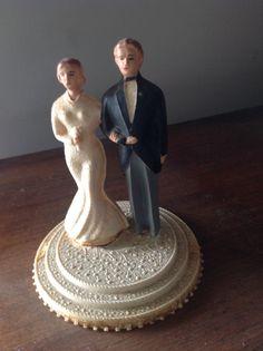 Vintage Wedding Cake Topper 1930 par Artemisia1913 sur Etsy