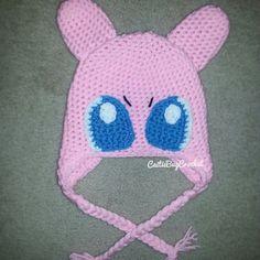 Crochet Pokémon Mew-inspired Hat by CaitieBugCrochet on Etsy
