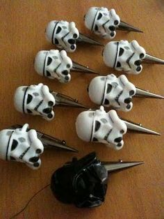 Star Wars Wedding Boutonnieres. I would never let these actually hapoen but holy shit.