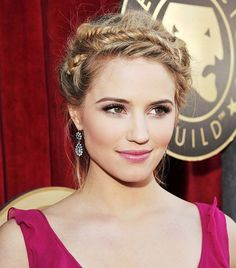 Hairstyles 10 Stunning Crown Braids Worn by Celebrities,Dutch braid seems nice on highlighted hair and it's good to put on on humid days or at work, whereas the French crown braids areextra elegant. You c...
