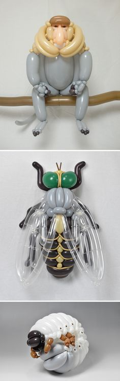 New Balloon Sculptures Depicting Animals and Insects by Masayoshi Matsumoto