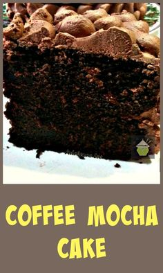 Coffee Mocha Cake. This is a wicked cake!!! Easy to follow recipe and here's a slice for you all to try! #cake #chocolate #mocha