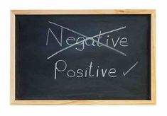 It's either you choose to be negative or positive