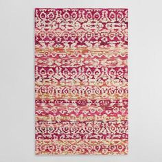 Pink and Ivory Tufted Wool Samara Area Rug | World Market