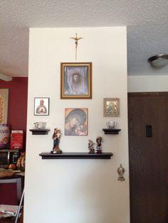 catholic home altar on a shelf! home altar ideas home altarhome altar prayer spot