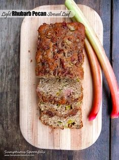 Light Rhubarb Pecan Streusel Loaf