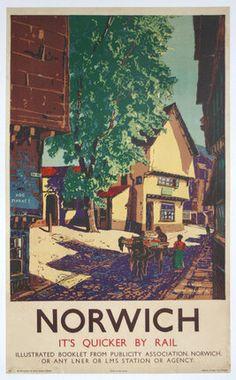 Vintage LNER Rotterdam Holland via Hull Railway Poster A3//A4 Print