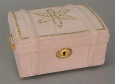 Hermes Paris Jewelry Box Having Brass Tac Dome Top