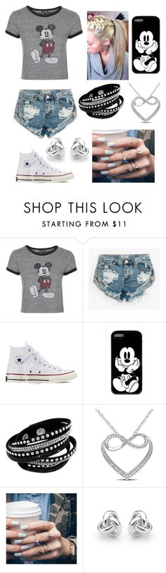 """Untitled #205"" by music4evs ❤ liked on Polyvore featuring Topshop, One Teaspoon, Converse, Miadora, Floss Gloss and Georgini"