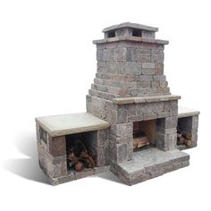 Romanstone DIY kits add value to your home. Our outdoor living fireplace and grill station DIY kits simply glue together. Outdoor Fireplace Patio, Outdoor Stone Fireplaces, Outdoor Fireplace Designs, Diy Fireplace, Outdoor Patios, Stucco Fireplace, Outdoor Pavilion, Outdoor Spaces, Outdoor Living