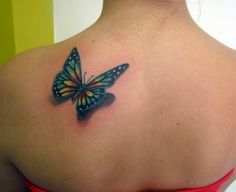 3D Butterfly Tattoos For Women | The most beautiful 3D butterfly tattoos images for women