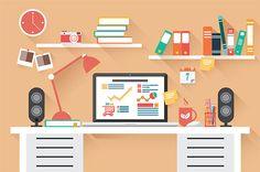 https://www.behance.net/gallery/19368005/Flat-Design-Office-Desk-02