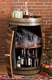 Image result for wine barrel bar leaner