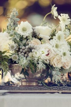 pretty winter centerpiece!