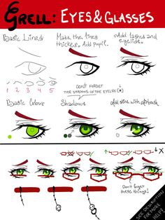 TUTORIAL: Grell Sutcliff's Eyes and Glasses by ~Lilyhasapenis