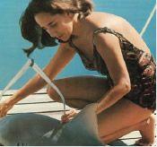 Eugenie Clark (the shark lady) and a nurse shark