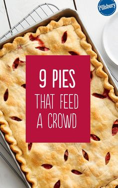 Looking for a dessert that will feed a crowd? Look no further than these easy slab pie recipes! These pies are sure to impress and are super delicious. We have all your favorite flavors - blueberry, a (Dessert Recipes For A Crowd) Desserts For A Crowd, Cooking For A Crowd, Köstliche Desserts, Food For A Crowd, Summer Desserts, Delicious Desserts, Dessert Recipes, Yummy Food, Recipes For A Crowd