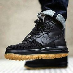 09db49965568 Nike Lunar Force 1 Duckboot Black Gum is now available just in time for the  colder months of winter. This winterized Nike Lunar Force 1 Duckboot Black  Gum