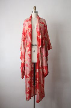20s robe / 1920s silk kimono robe by 1919vintage on Etsy